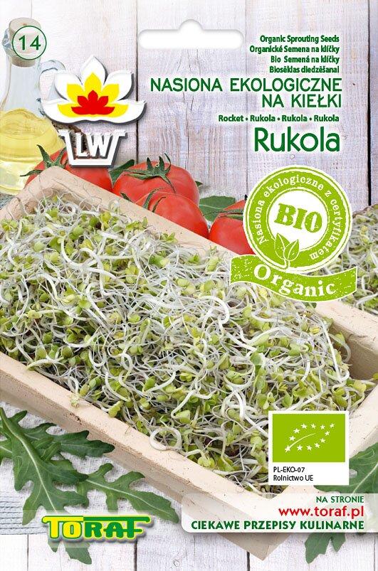 Rukola semena na klíčky v biokvalitě, 10 g