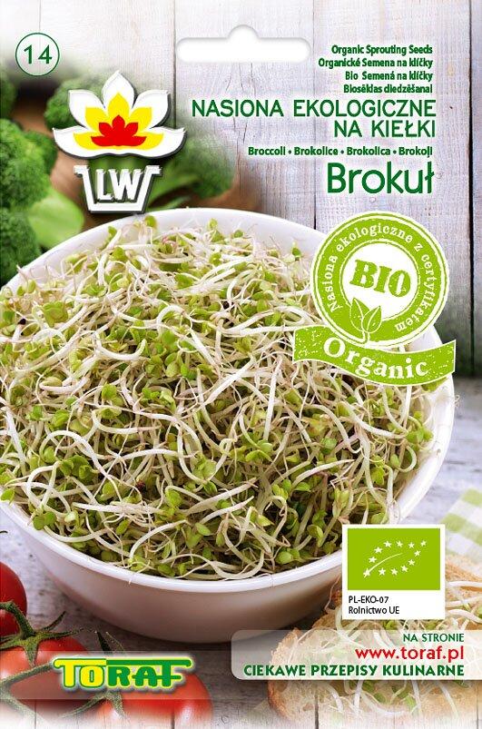 Brokolice semena na klíčky v biokvalitě, 10 g