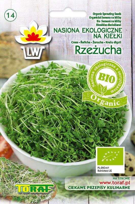 Řeřicha setá semena na klíčky v biokvalitě, 20 g