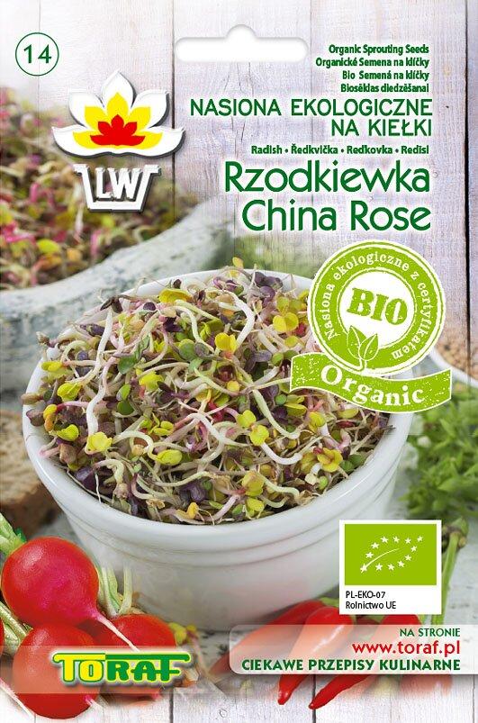 Ředvička China Rose semena na klíčky v biokvalitě, 20 g