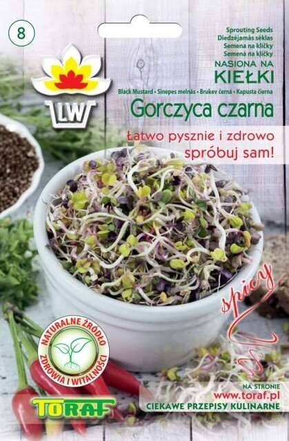 Brukev černá semena na klíčky, 20 g