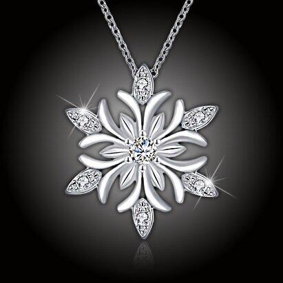 Krásný náhrdelník Crystal Snowflake