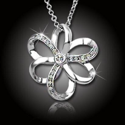 Atraktivní náhrdelník Elegant Flower