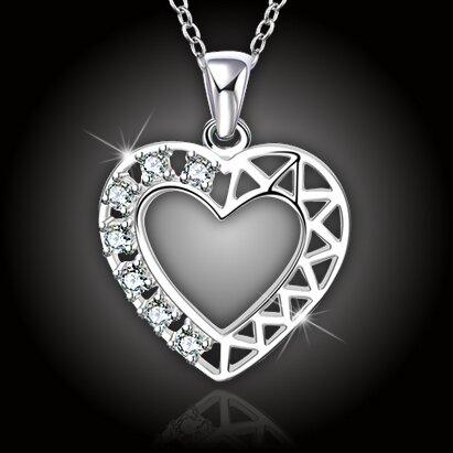"""Romantický náhrdelník """"Crystal Heart"""""""