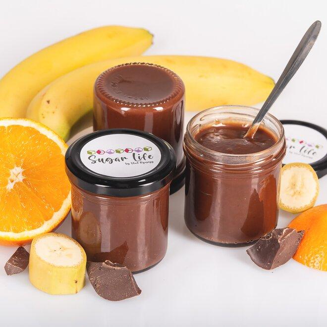 Džem – banán, 55% hořká čokoláda a pomeranč, 175 g