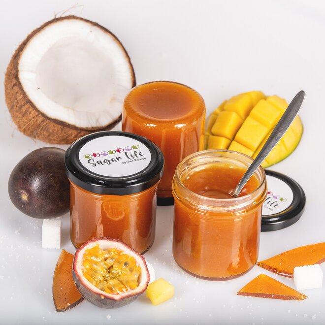 Exotický karamel – kokos, mučenka a mango, 150 g