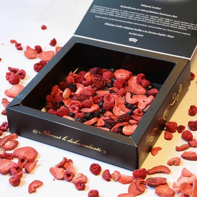 Frgál ze 72% hořké čokolády se směsí ovoce (200 g)