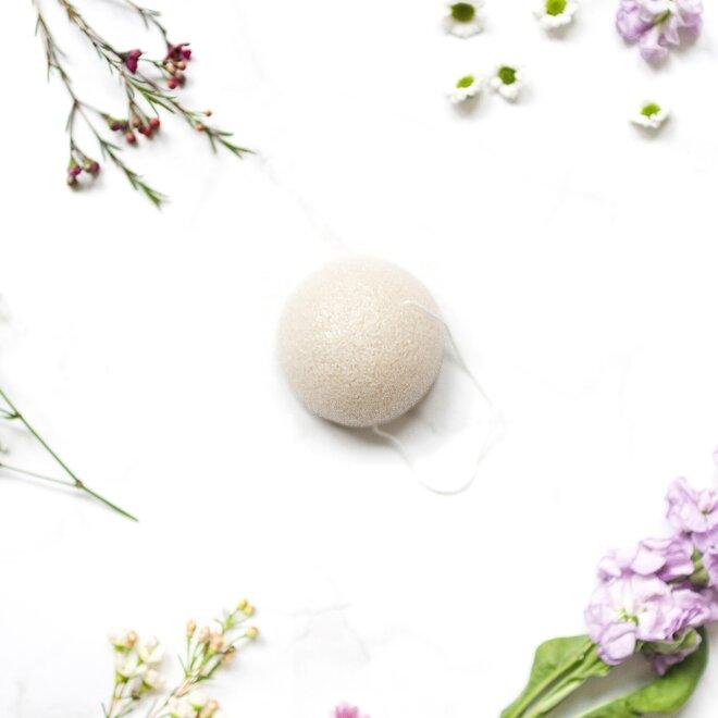 Konjaková houbička bílá