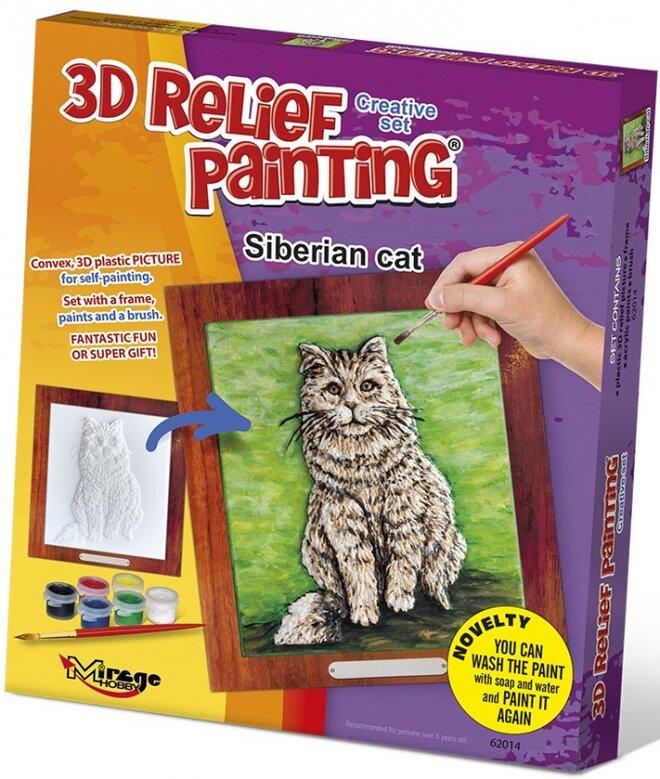 3D reliéfní obrázek – Kočka