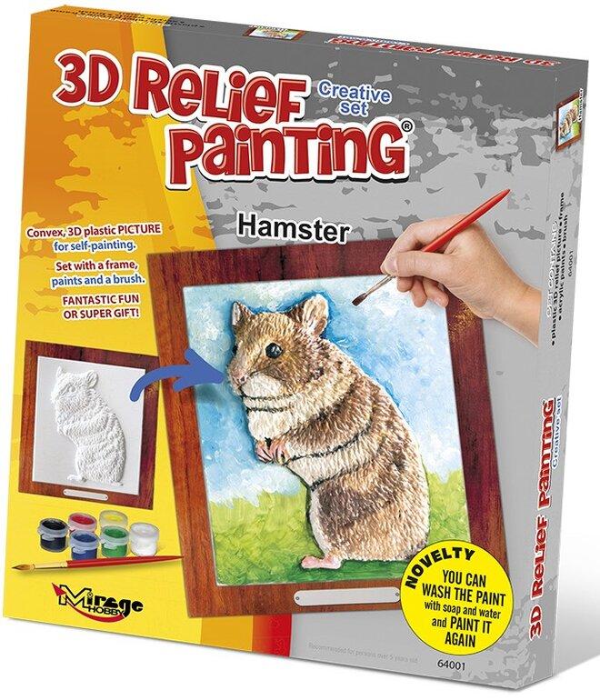 3D reliéfní obrázek – Křeček