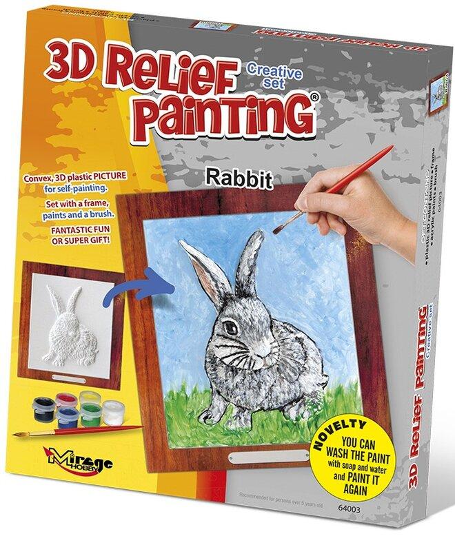 3D reliéfní obrázek – Králík