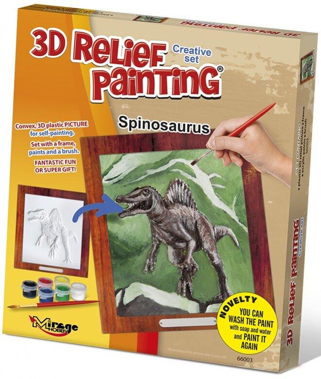 3D reliéfní obrázek – Spinosaurus
