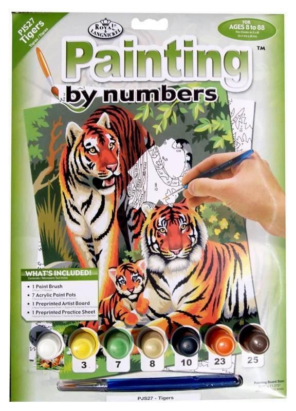 Malování podle čísel – Tygří rodinka