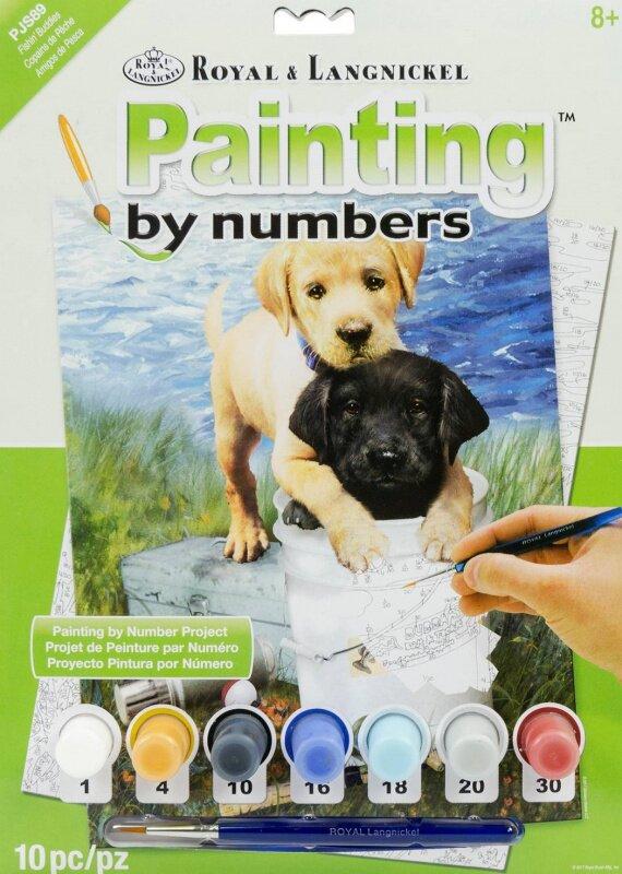 Malování podle čísel – Štěňata