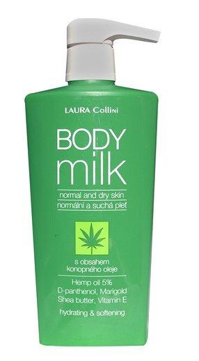 Tělové mléko s konopným olejem, 400 ml