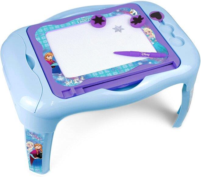 Dětský stoleček s oboustrannou tabulí - Ledové království