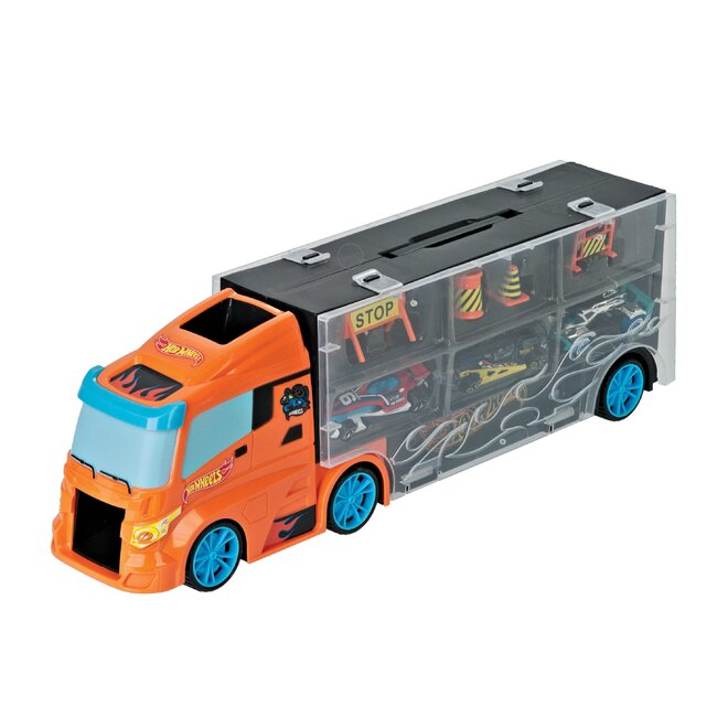 Transportér autíček 40 cm + 3 autíčka Hot Wheels