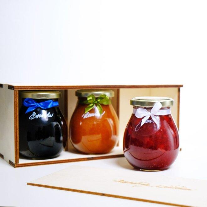Oblíbená klasika 1 (jahoda, malina, meruňka) v dárkové krabičce