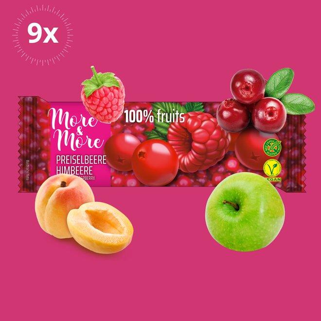 9x ovocná tyčinka More & More Klikva-Malina (270 g)