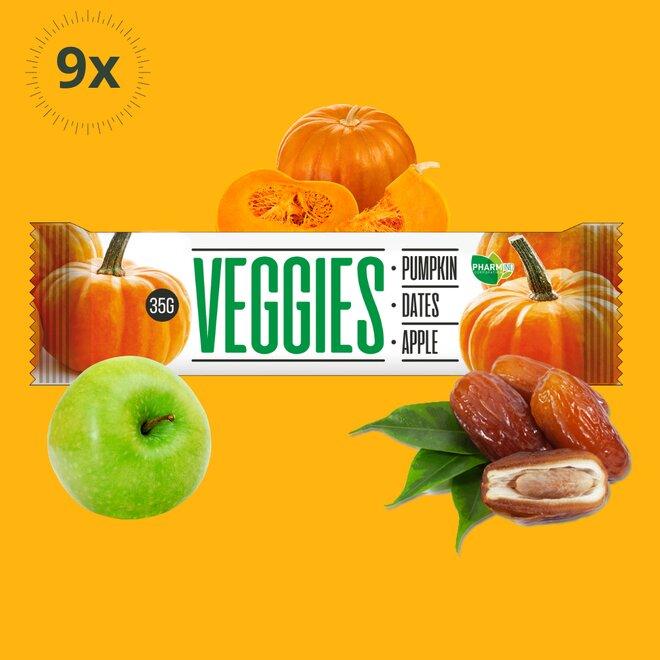 9x zeleninová tyčinka Veggies Dýně (270 g)