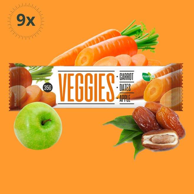 9x zeleninová tyčinka Veggies Mrkev (270 g)