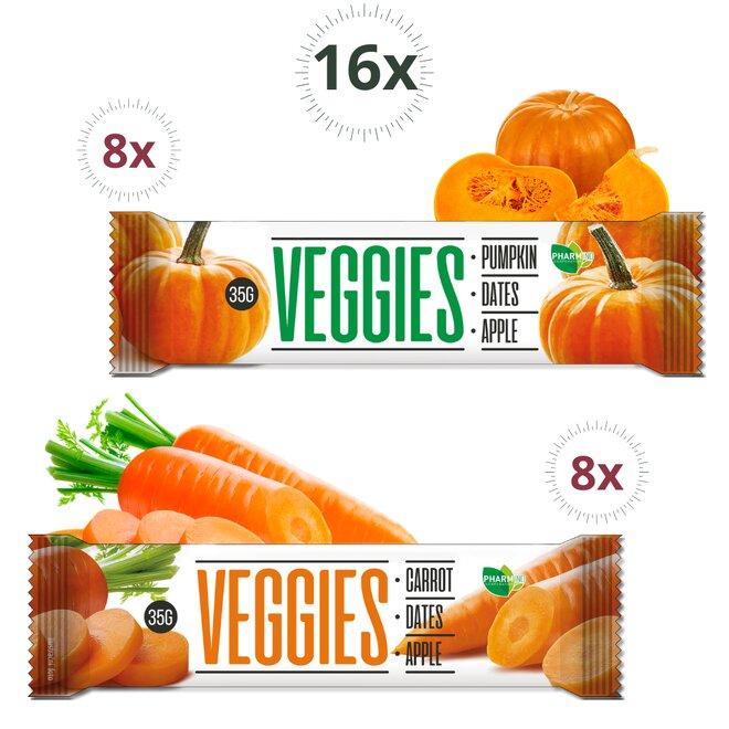 Mix tyčinek Veggies Mrkev & Dýně (16 kusů - 480 g)