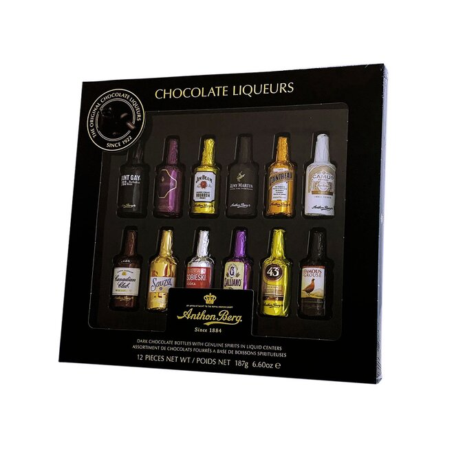 Anthon Berg Chocolate Liquers, 187 g / 12 lahviček