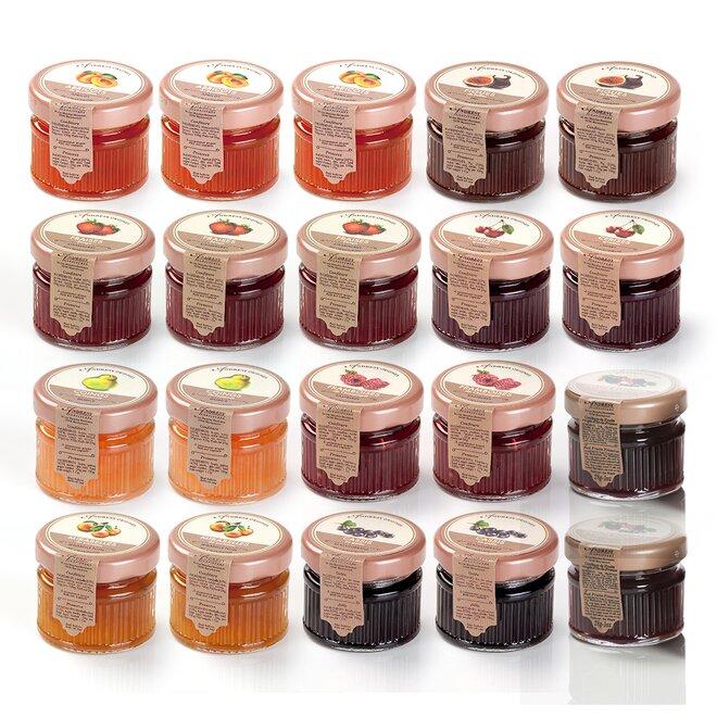 Set 20 kusů džemů v dárkovém balení