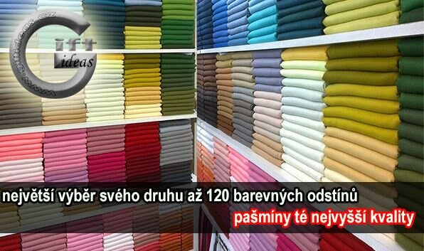 Luxusní pašmína. Výběr ze 120 krásných barev!  7d14fe790f