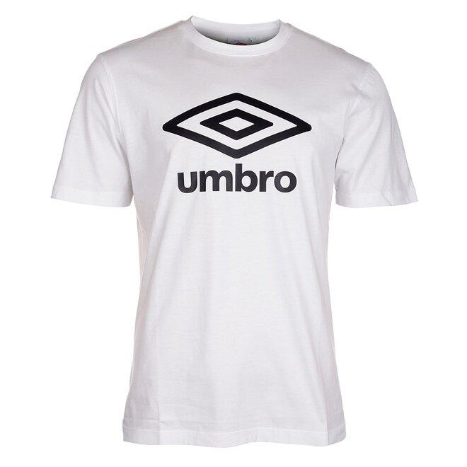 Pánské bílé tričko Umbro s černým logem  cdb403fa76