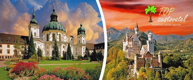 Benediktinské opatství kláštěr ettal a zámek neuschwanstein