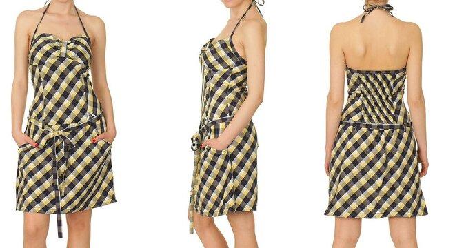 Modré šaty Agata (97% bavlna 29fb408b26
