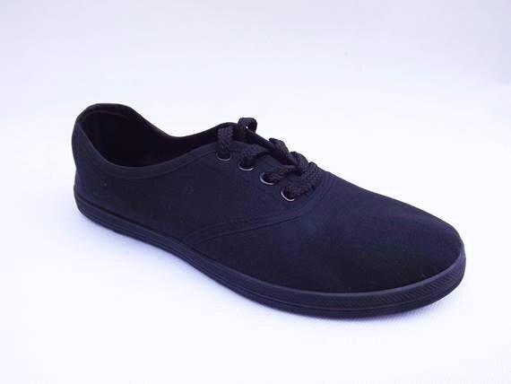 Dámské plátěné boty jednobarevné pořídíte v černé 8c62e62f9a1