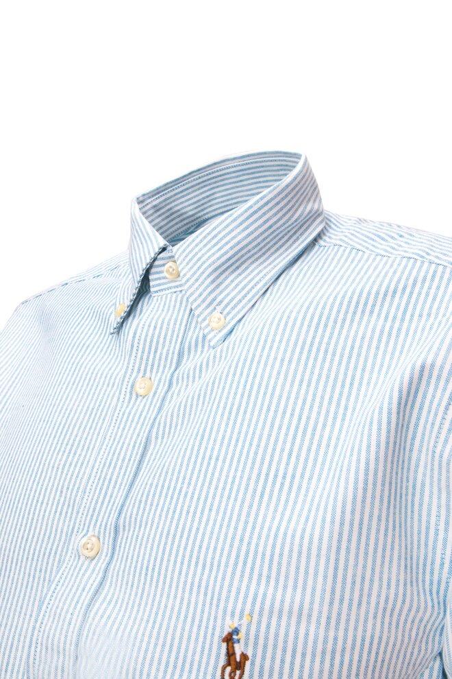 Pánská stylová proužkovaná košile má široký límec db91f1812e
