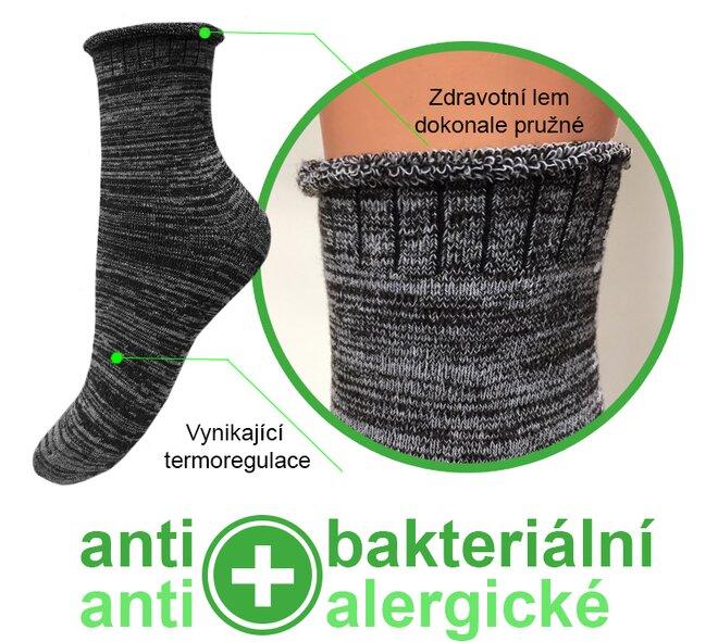 Zdravotní bambusové termo ponožky 6 párů  3fcaf2e36b