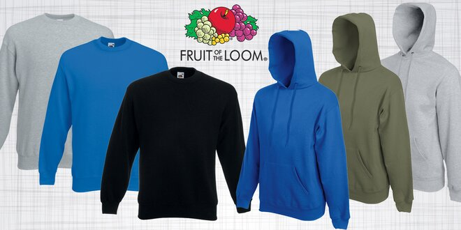 6bc57224b62 Pánská značková mikina Fruit of the Loom v originálním stylovém designu