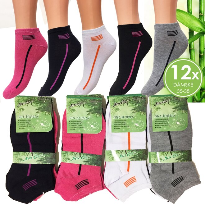 b48b8b9a37b Dámské ponožky ve velikostech 35–38 nebo 38–42 – Barevný mix 2