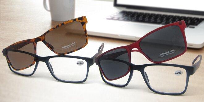 Dioptrické čtecí brýle s polarizačním klipem