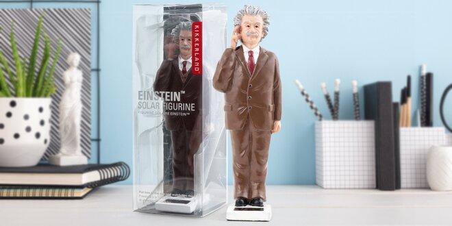 Motivační solární figurka Alberta Einsteina