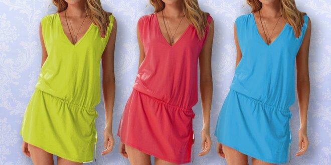 Dámské letní šaty se stahováním v pase