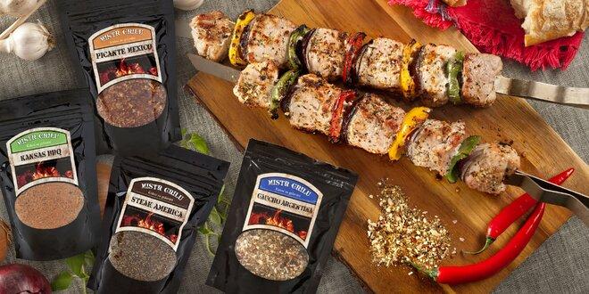 Směsi grilovacího koření: BBQ, steaky i Mexico