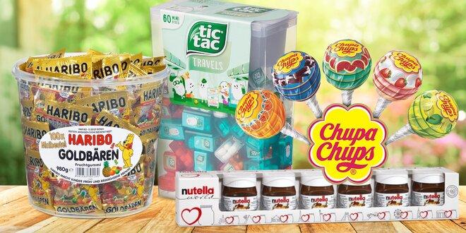 Obří Tic Tac, lízátka Chupa Chups i Nutella