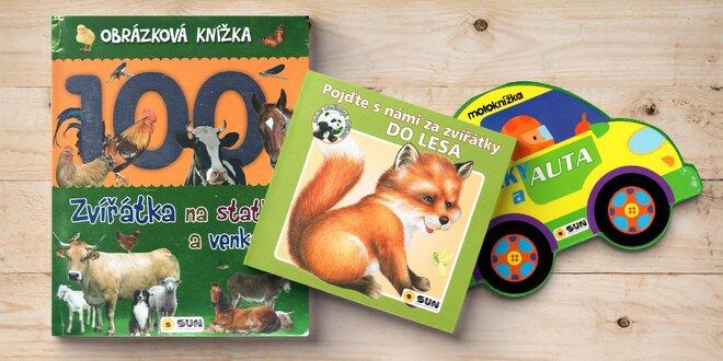 Dětská leporela a obrázkové knížky: auta, zvířátka