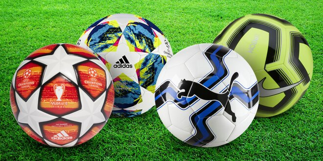 Fotbalové míče Nike, Puma a Adidas