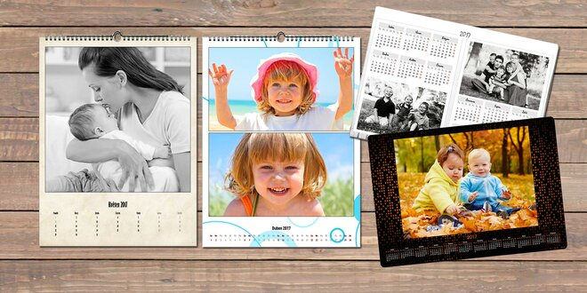 Nástěnné fotokalendáře z vlastních fotografií