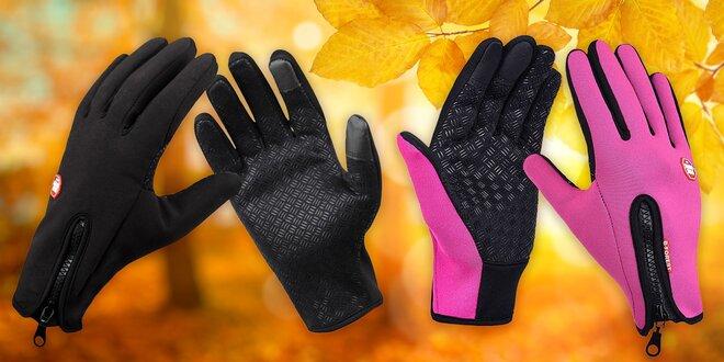 Voděodolné termo rukavice zateplené flísem