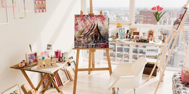 Malujte podle čísel: v sadě akrylové barvy i plátno