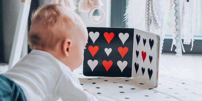 Kontrastní knížky a hračky pro rozvoj miminka