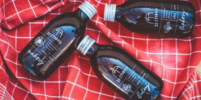 Řepkový, makový i lněný olej lisovaný za studena