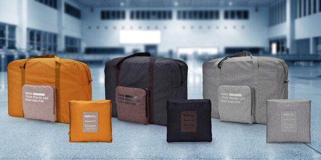 Skládací cestovní taška, ideální příruční zavazadlo